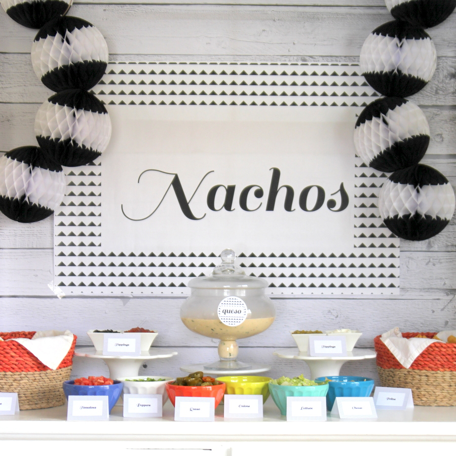 nacho bar- the perfect party food