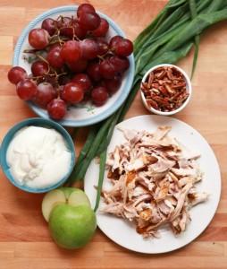 chicken salad with pecans and yogurt