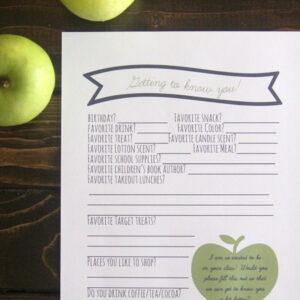 free printable teacher survey