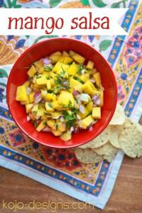 fresh mango salsa at kojo designs