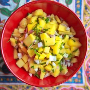 fresh mango salsa at kojo-designs