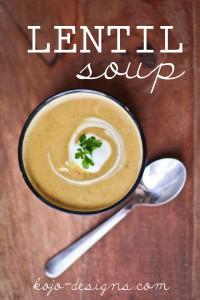 lentil soup at kojo-designs