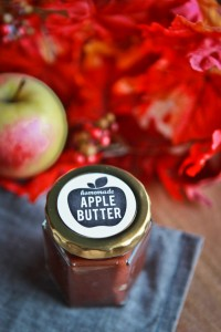 apple butter recipe and free printable label