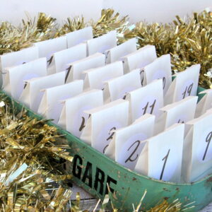 the simplest-ever advent calendar (make a countdown using bags, free printable labels, and a tray)