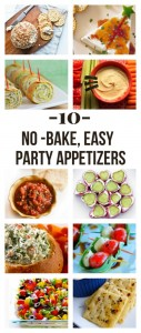 easy, no bake appetizers. great for holiday parties!