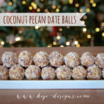 coconut pecan dateballs