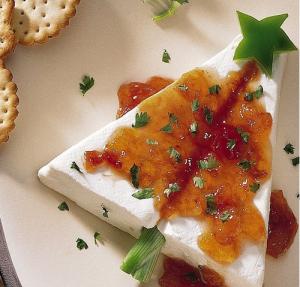 cream cheese + pepper jelly