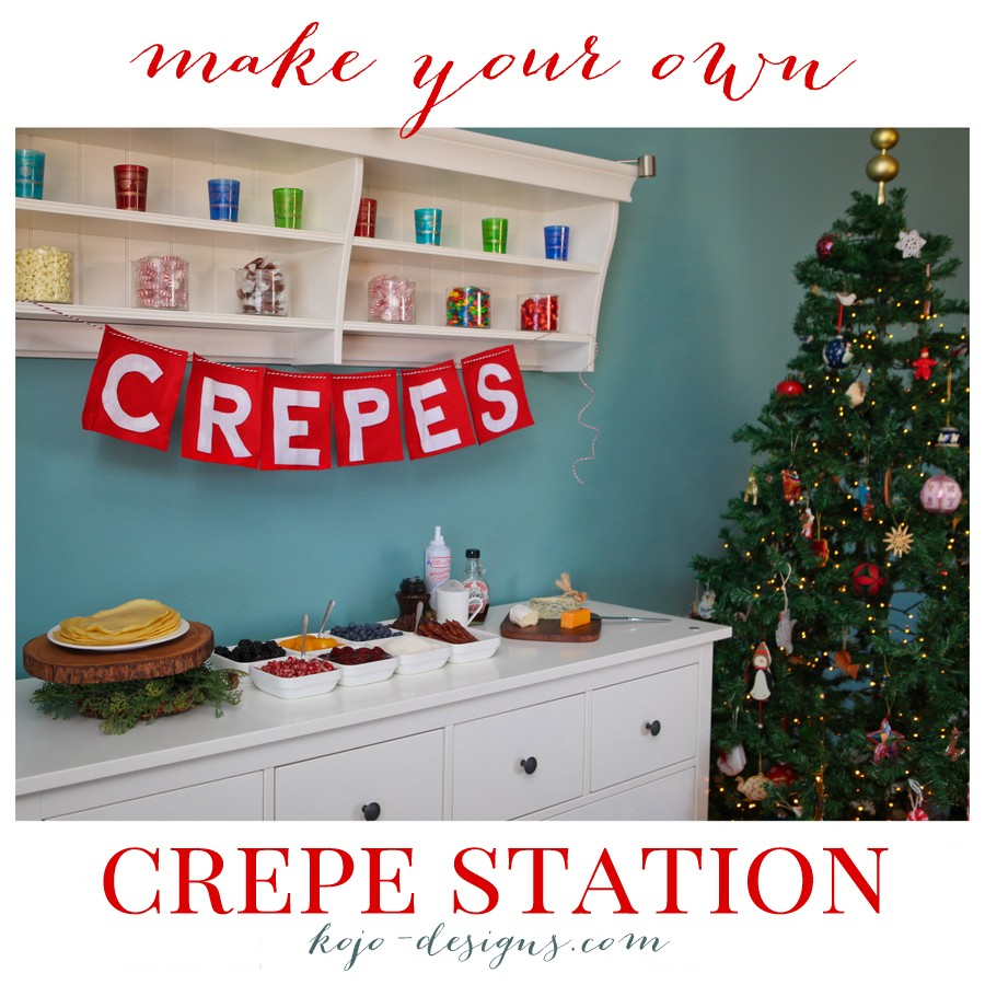 make your own crepe station for Christmas morning!