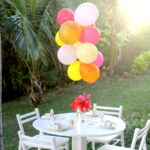 """mini birthday party"" kid's table (put together in 45 minutes with on-hand supplies!)"