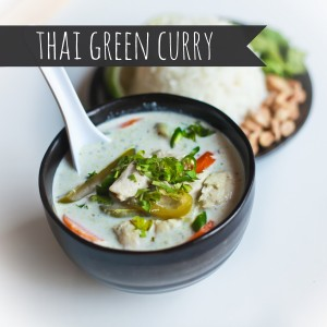 freezer cooking thai green curry