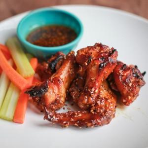 baked honey sesame chicken wings
