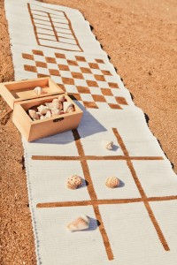 Use a table runner to make a game board