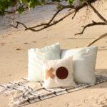 DIY leather throw pillow