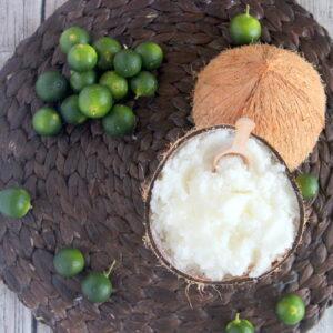 the perfect compliment to a DIY pedicure- homemade coconut key lime sugar scrub (bonus- it smells like summer in a jar!)