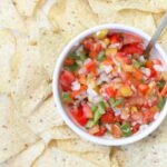 homemade cilantro free pico de gallo salsa recipe (so yummy even cilantro-lovers will eat this by the bowlful!)