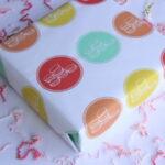 pretty printable macaron gift wrap!
