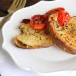 parmesan herb smash potato recipe- crispy and herb-y and YUMMY