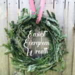 easiest DIY Christmas wreath