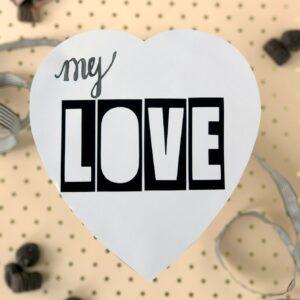 DIY valentine's chocolate box makeover