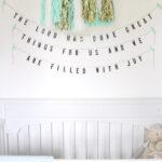 psalm 126 nursery decor garland