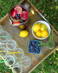 blueberry rosemary citrus sangria recipe
