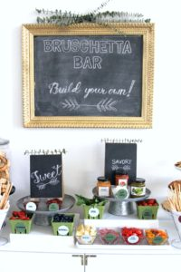 build your own bruschetta bar- the perfect combination of easy and delicious for holiday entertaining!