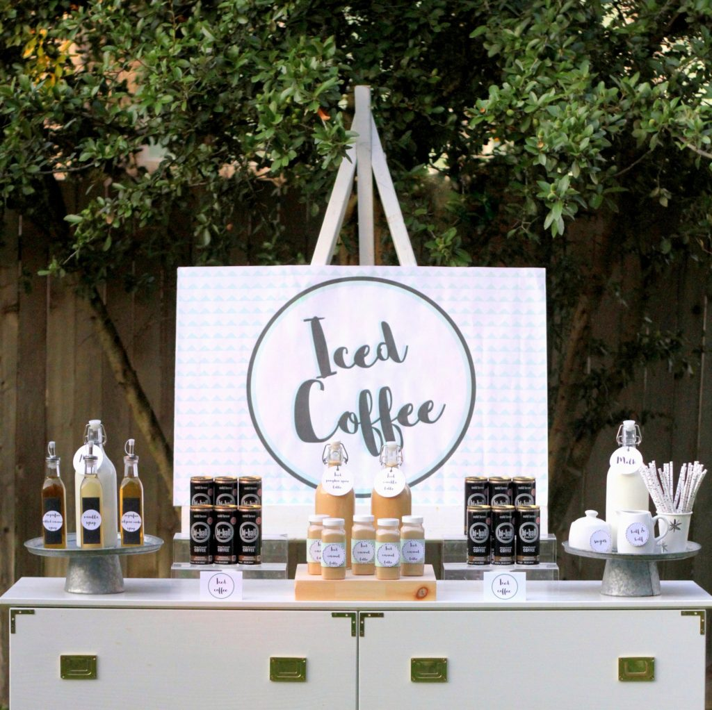 Happy National Coffee Day! Celebrate with an Iced Coffee Bar.