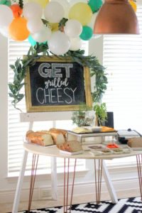 This grilled cheese bar is the ultimate in cozy comfort food! And also SO EASY to put together. (AKA- party food perfection!)