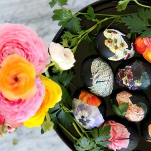 how to make gorgeous floral easter eggs
