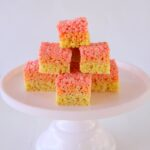 how to make tri-color layered rice krispy treats