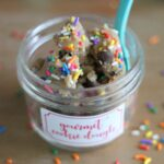 how to make edible gourmet birthday cookie dough (makes a great gift!)